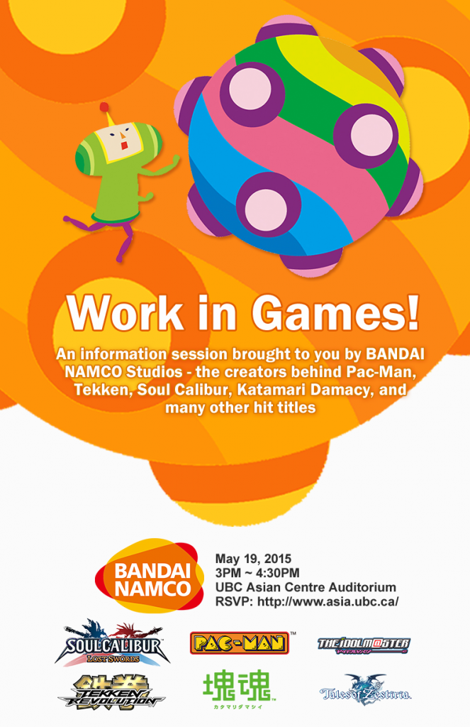 Work in Games! — BANDAI NAMCO Info Session