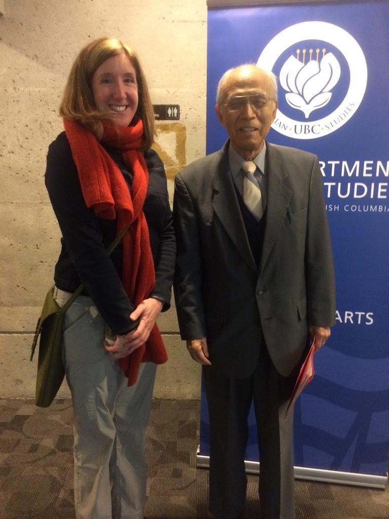 Professor Soga and former student Stacia Johnson