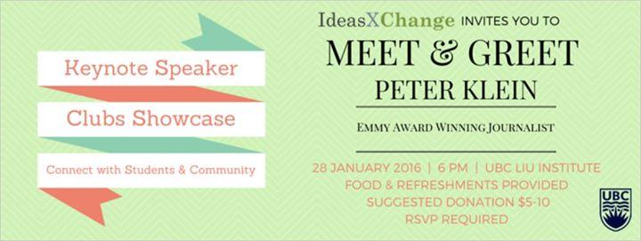 Ideasxchange 2016 meet greet with peter klein department of ideasxchange m4hsunfo