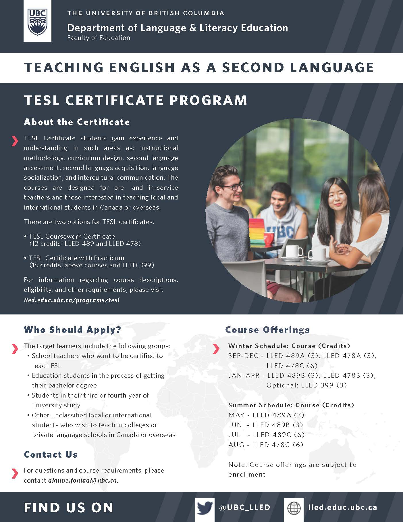 Teaching English As A Second Language Tesl Certificate